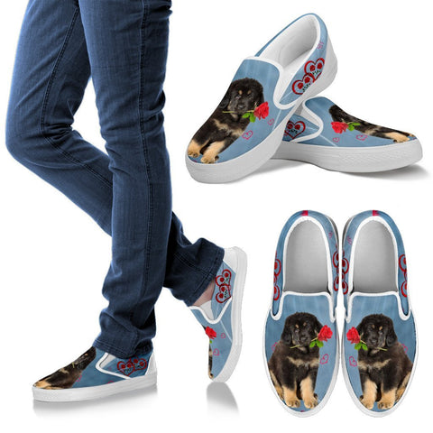 Valentine's Day Special-Tibetan Mastiff Print Slip Ons For Women-Free Shipping