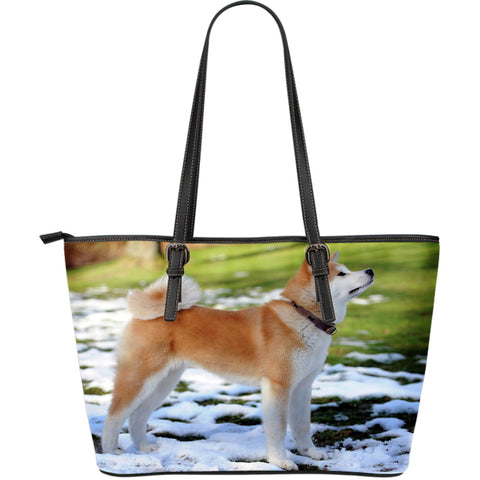 Shiba Inu Dog Lovers Large Leather Handbag