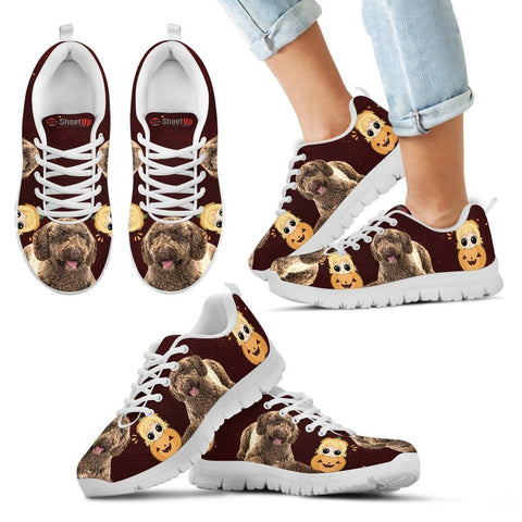 Spanish Water Dog Halloween Print Running Shoes For Kids/Women-Free Shipping