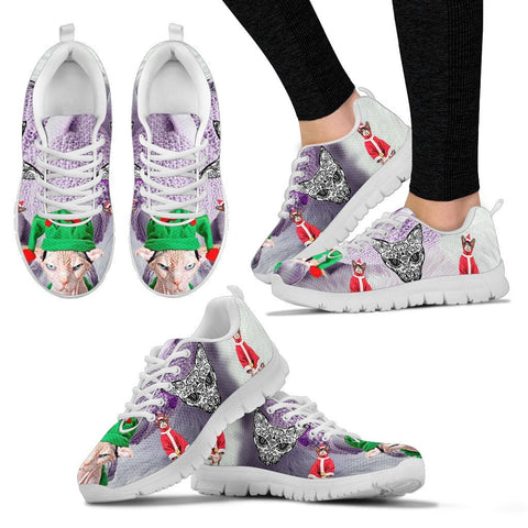 Sphynx Cat Christmas Running Shoes For Women- Free Shipping