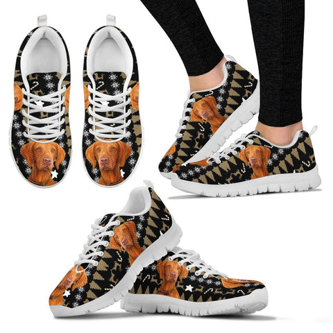 Vizsla Christmas Print Running Shoes For Women-Free Shipping