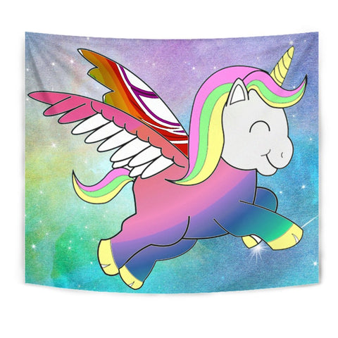 Cute Smiling Unicorn Print Tapestry-Free Shipping