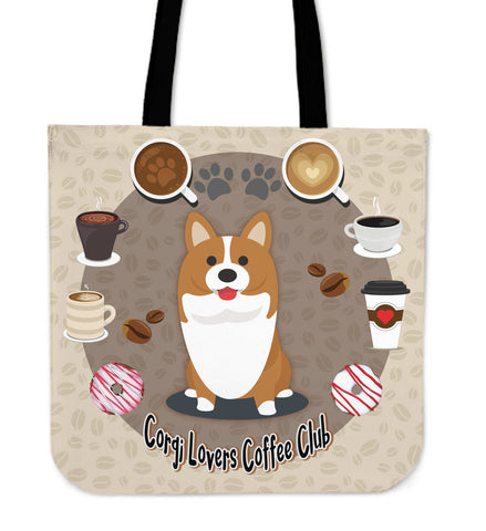 Corgi Lovers Coffee Club Cloth Tote Bag