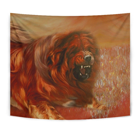 Amazing Tibetan Mastiff Dog Print Tapestry-Free Shipping