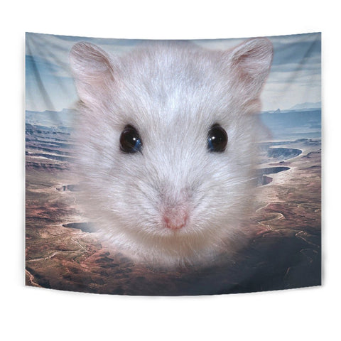 Cute Campbell's Dwarf Hamster Print Tapestry-Free Shipping