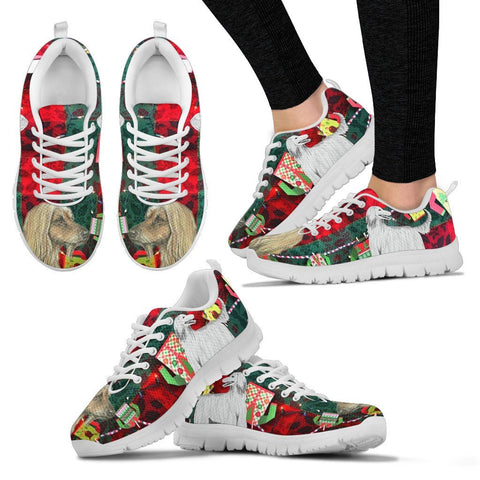 Afghan Hound Christmas Running Shoes For Women- Free Shipping