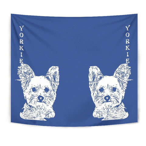 Yorkshire Terrier (Yorkie) Dog Print Tapestry-Free Shipping
