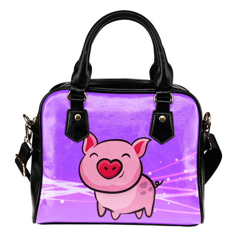 Pink Piggie Ladies Leather Shoulder Bag