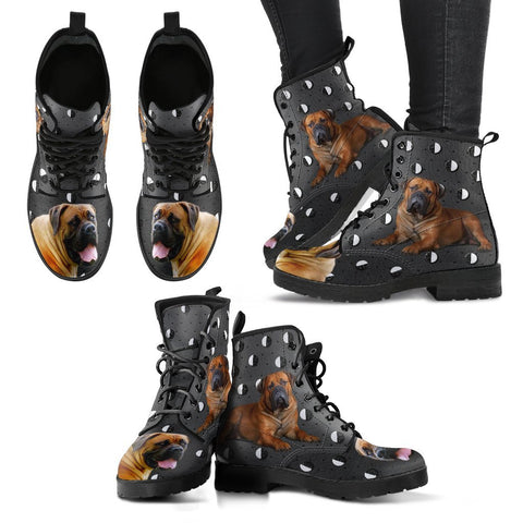Valentine's Day Special-South African Boerboel Dog Print Boots For Women-Free Shipping