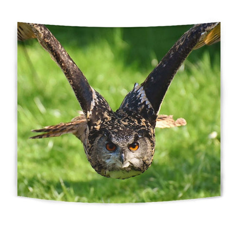 Flying Owl Bird Print Tapestry-Free Shipping
