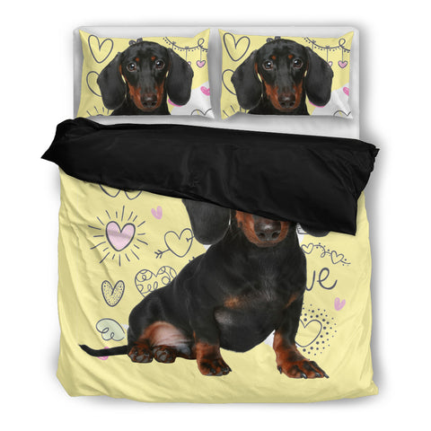 Cute Dachshund Puppy Dog Duvet