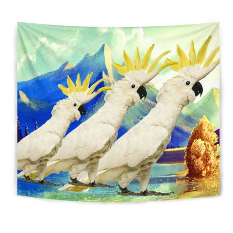 Lovely Cockatoo Parrot Print Tapestry-Free Shipping
