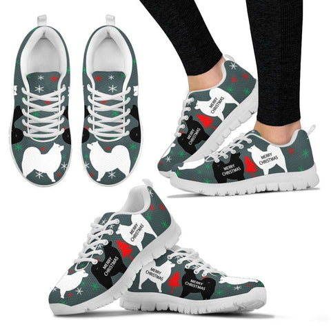 Samoyed dog Print Christmas Running Shoes For Women-Free Shipping