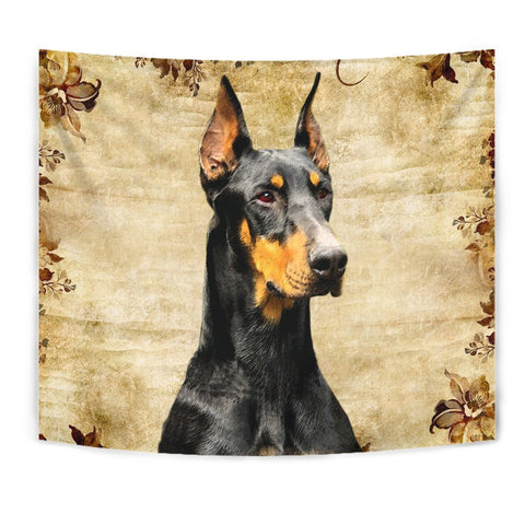 Lovely Doberman Pinscher Print Tapestry-Free Shipping