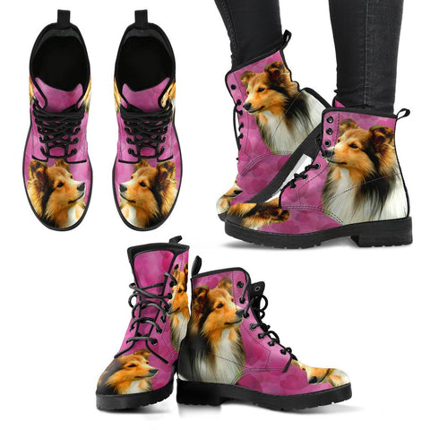 Valentine's Day Special-Shetland Sheepdog Print Boots For Women-Free Shipping