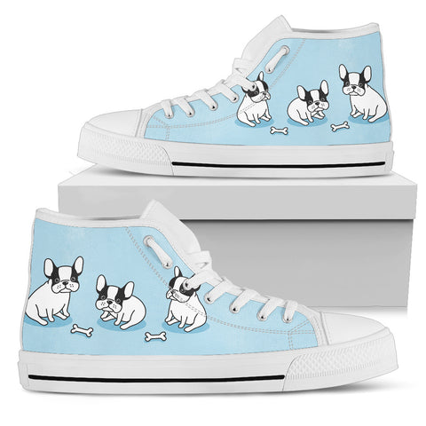 Nice Baby Bulldog Women's High Top Shoes