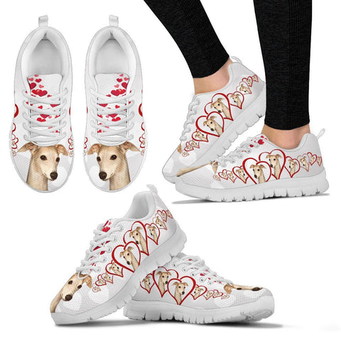 Valentine's Day Special-Whippet Dog Print Running Shoes For Women-Free Shipping