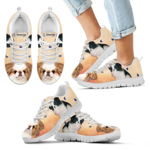 Cute Japanese Chin Print Running Shoes For Kids- Free Shipping