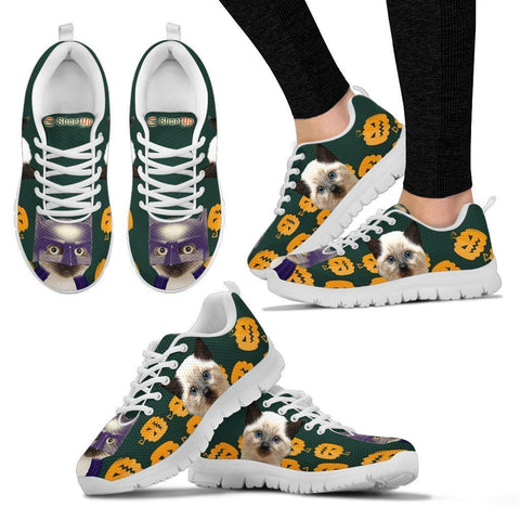Siamese Cat (Halloween) Print-Running Shoes For Women/Kids-Free Shipping