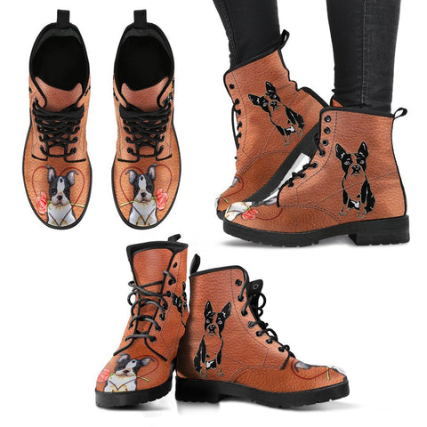 Valentine's Day Special Boston Terrier Print Boots For Women-Free Shipping