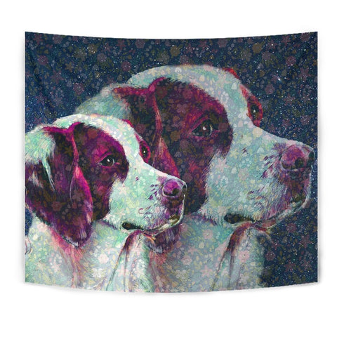 Brittany Dog Art Print Tapestry-Free Shipping