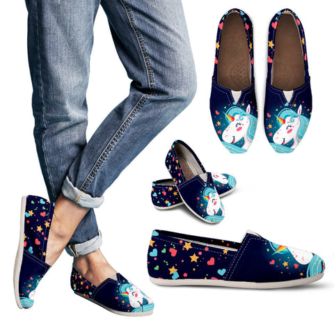 Casual Unicorn Slip On Shoes