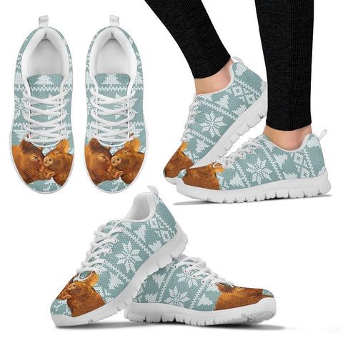 Duroc pig2 Print Christmas Running Shoes For Women-Free Shipping