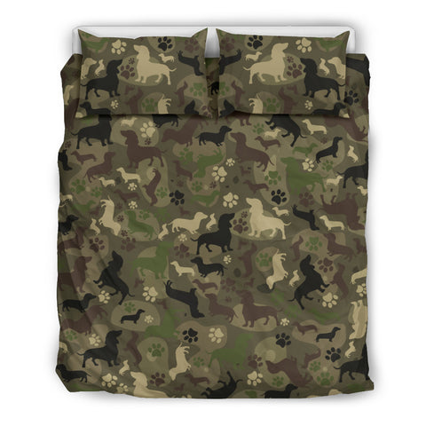 Dachshund Camo Bedding Set for Lovers of Dachshunds