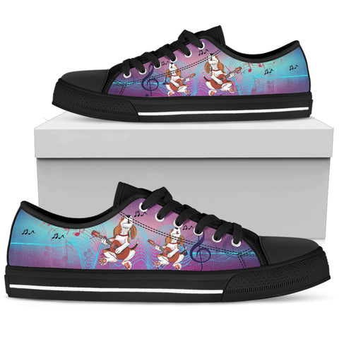 Guitar Beagle Women's Low Top Shoe - Black