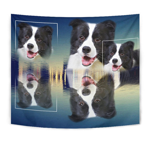 Border Collie Print Tapestry-Free Shipping