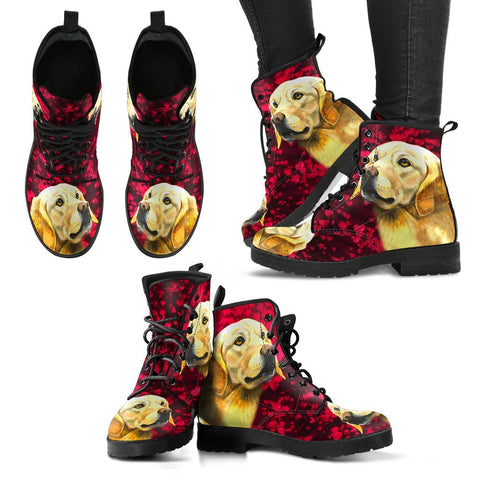 Valentine's Day Special-Labrador Retriever Print Boots For Women-Free Shipping