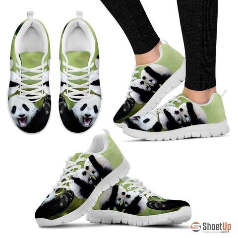 Lovely Panda Printed Running Shoes For Women-Free Shipping