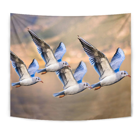 Flying Seagulls Bird Print Tapestry-Free Shipping