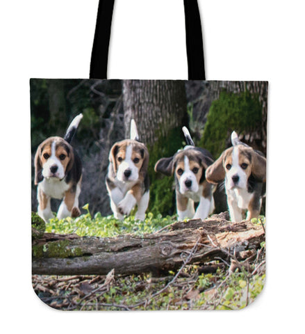 Beagle Puppies Tote Bag