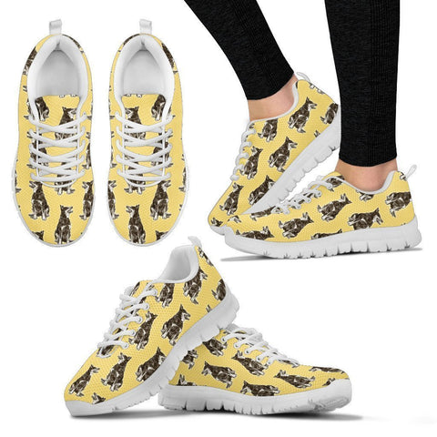 Australian Cattle Dog Pattern Print Sneakers For Women- Express Shipping