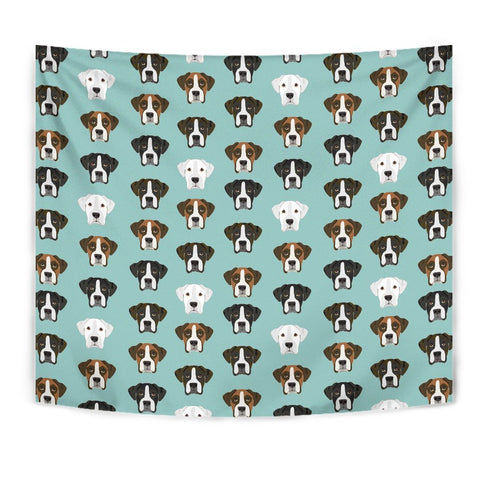 Boxer Dog Pattern Print Tapestry-Free Shipping