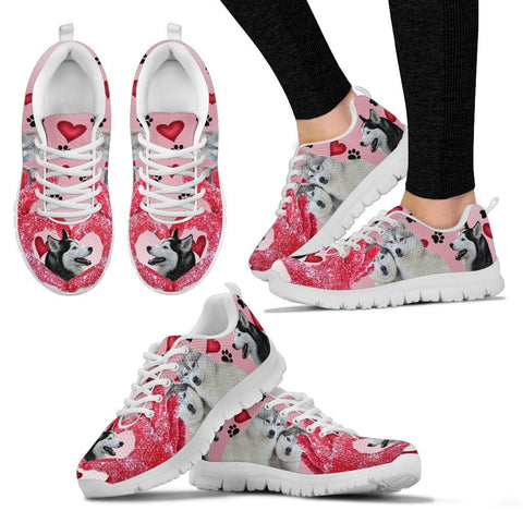 Valentine's Day Special-Siberian Husky Print Running Shoes For Women-Free Shipping