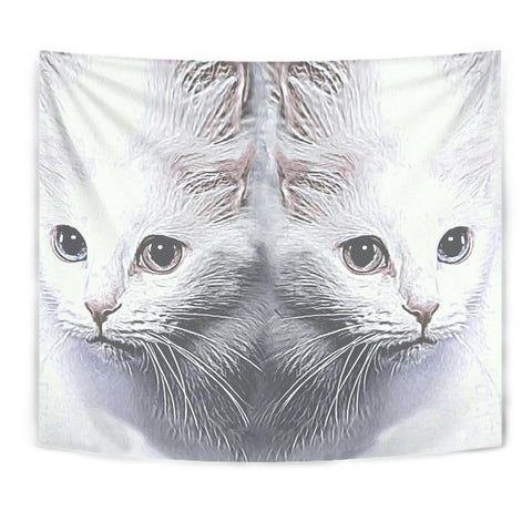 Turkish Angora Cat Print Tapestry-Free Shipping