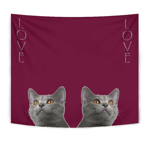 Chartreux Cat Print Tapestry-Free Shipping