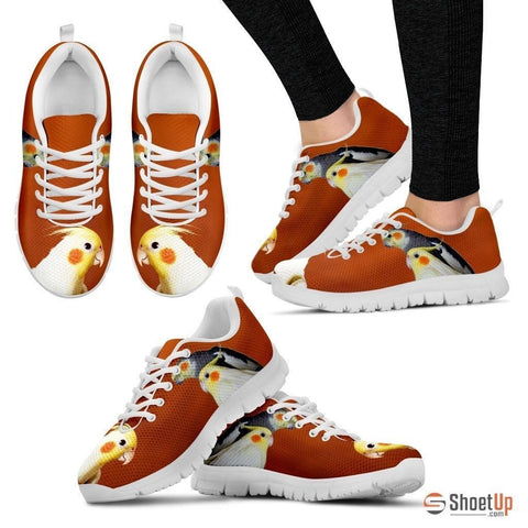 Cockatiel Parrot Print Running Shoes For Women-Free Shipping