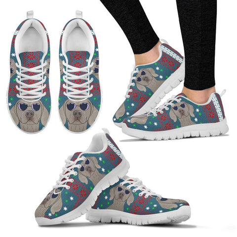Weimaraner Dog Print Christmas Running Shoes For Women-Free Shipping