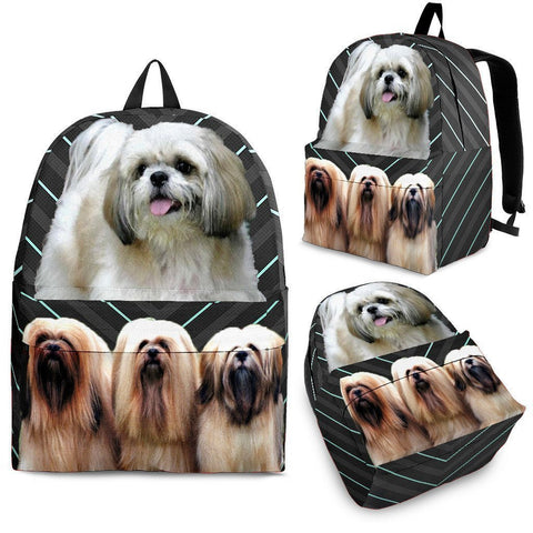 Lhasa Apso Dog Print Backpack-Express Shipping
