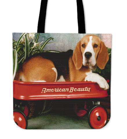 Wagon Beagle Tote Bag