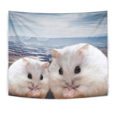 Cute Chinese Hamster Print Tapestry-Free Shipping