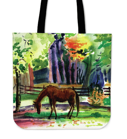 Horse Art Cloth Tote Bag