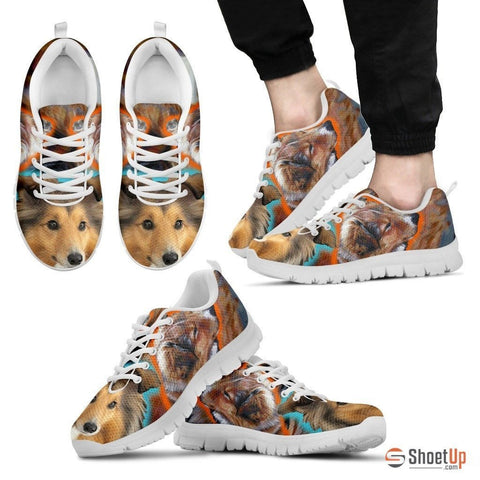 Shetland Sheepdog Dog Print Running Shoe For Men- Free Shipping