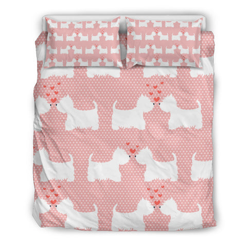 Westie Pink Bedding Set