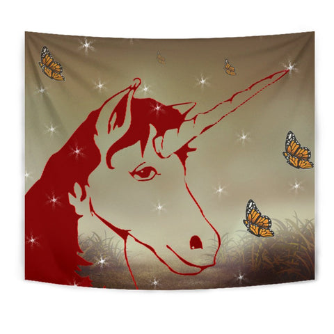 Amazing Red Unicorn Print Tapestry-Free Shipping