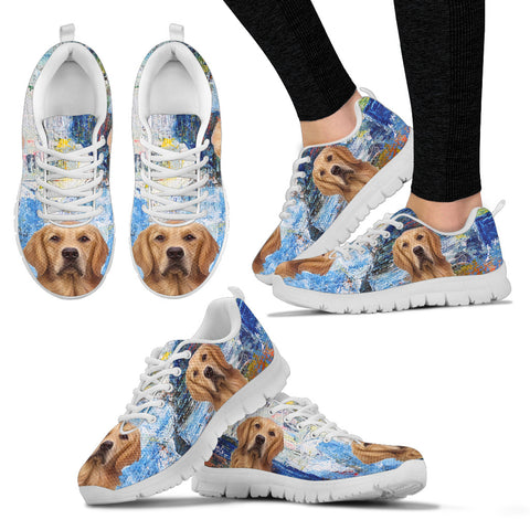 Cute Labrador Retriever Sneakers for Women