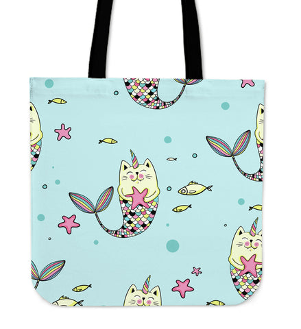 Mercaticorn Tote Bag - Cat Unicorn